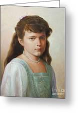 Grand Duchess Anastasia Nikolaevna Of Russia Greeting Card