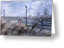 Grand Haven Channel With Winter Waves  Greeting Card
