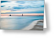 Grand Haven Pier - Smooth Waters Greeting Card