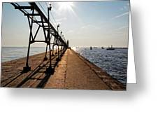 Grand Haven Pier Greeting Card