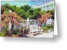 Grand Hotel Gardens Mackinac Island Michigan Greeting Card