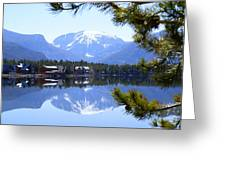 Grand Lake Co Mt Baldy From Shadow Mtn Lake Greeting Card