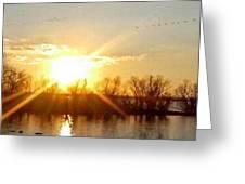 Grand Lake Sunset Greeting Card