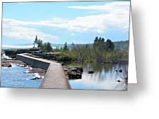 Grand Marais Breakwater Greeting Card