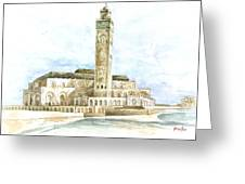 Grand Mosque Hassan II  Front Side Greeting Card