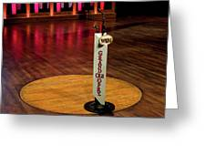 Grand Ole Opry House Stage Flooring - Nashville, Tennessee Greeting Card