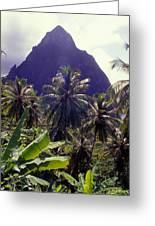 Grand Piton Greeting Card