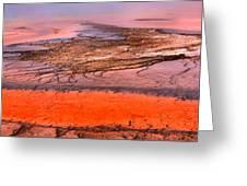 Grand Prismatic Algae Mat Panorama Greeting Card