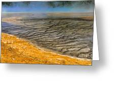 Grand Prismatic Runoff Greeting Card