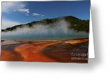 Grand Prismatic Spring At Yellowstone's Midway Geyser Basin Greeting Card