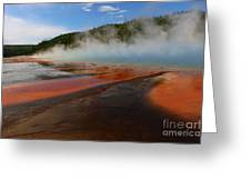 Grand Prismatic Spring Colors Greeting Card