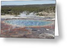 Grand Prismatic Spring, Midway Geyser Greeting Card