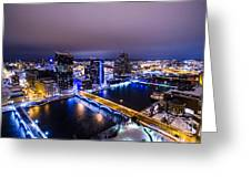 Grand Rapids At Night Greeting Card