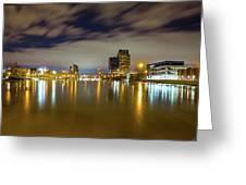 Grand Rapids At Night Greeting Card