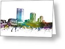 Grand Rapids Cityscape 01 Greeting Card