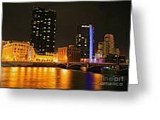Grand Rapids Mi Under The Lights-2 Greeting Card