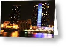 Grand Rapids Mi Under The Lights-4 Greeting Card