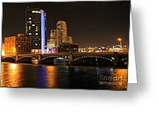 Grand Rapids Mi Under The Lights Greeting Card by Robert Pearson
