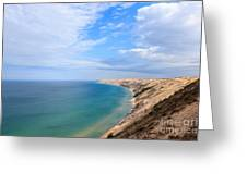 Grand Sable Dunes Overlook In Grand Marais Michigan Greeting Card