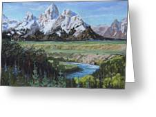 Grand Teton And Snake River Greeting Card