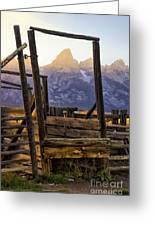 Grand Teton Framed Greeting Card