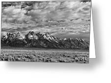 Grand Teton Majesty Greeting Card by Sandra Bronstein