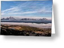 Grand Teton Mountain Range Greeting Card
