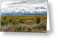 Grand Teton Mountains Panorama Greeting Card