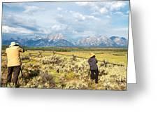 Grand Teton Photograpers Greeting Card
