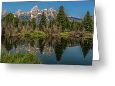 Grand Teton Range In Late Summer Greeting Card