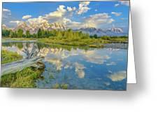 Grand Teton Riverside Morning Reflection Greeting Card