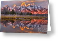 Grand Teton Snake River Sunrise Reflections Greeting Card