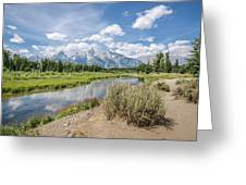 Grand Teton View No.1 Greeting Card by Margaret Pitcher