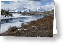 Grand Tetons From Oxbow Bend Greeting Card