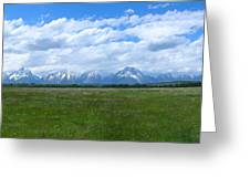 Grand Tetons Meadow Panarama Greeting Card