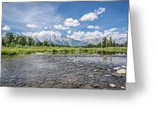 Grand Tetons On A Sunny Day Greeting Card by Margaret Pitcher