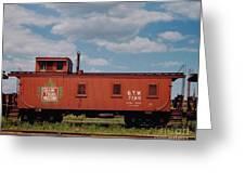 Grand Trunk Railroad Wood Caboose Greeting Card
