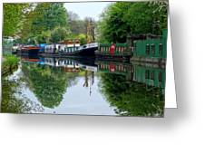 Grand Union Canal Cowley West London Greeting Card