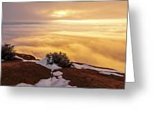 Grand View Glow Greeting Card by Chad Dutson