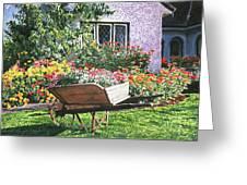 Grandad's Wheelbarrow Greeting Card