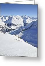 Grande Sassiere And Petite Sassiere Greeting Card by Andy Smy