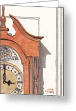 Grandfather Clock Greeting Card