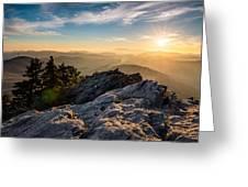 Grandfather Mountain Sunset Blue Ridge Parkway Western Nc Greeting Card
