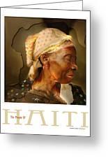 grandma - the people of Haiti series poster Greeting Card