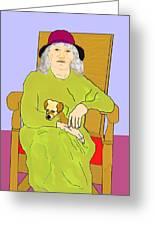 Grandma And Puppy Greeting Card