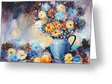 Grandmas Blue Pitcher Greeting Card