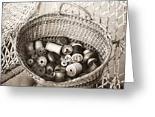 Grandma's Sewing Basket Greeting Card