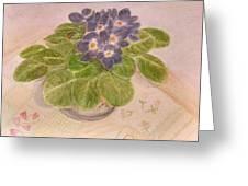 Grandma's Violets Greeting Card
