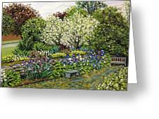 Grandmother's Garden Spring Blossoms Greeting Card
