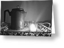 Grandmothers Vintage Coffee Pot Greeting Card